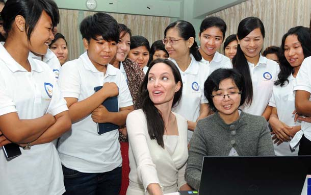 Angelina Jolie Burma August 2015